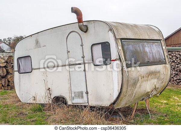 réduction, caravane, vieux - csp36436305