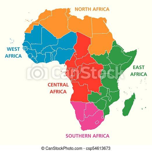 Carte Afrique Ouest Et Centrale.Regions Carte Afrique Politique