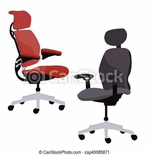 réglable, ergonomique, bureau, fauteuil, chaise, meubles - csp40085871