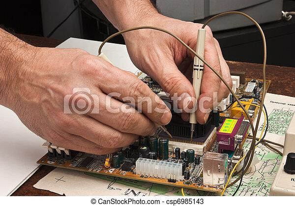 réparation, informatique - csp6985143