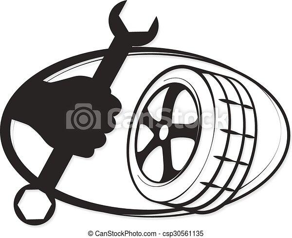 réparation, pneu - csp30561135