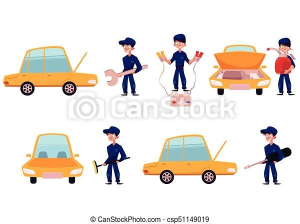 réparation, service, voiture, atelier, entretien, mécanicien - csp51149019