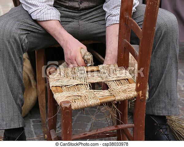 Rparation Vieux Mender Chaises Bois Quoique Chaise Paille