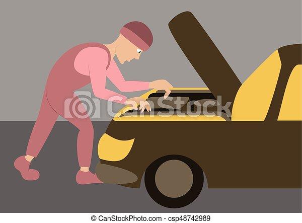 réparations, mécanicien, automobile - csp48742989