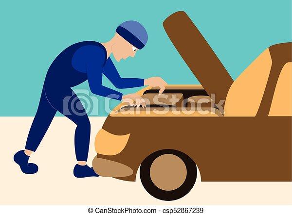 réparations, mécanicien, automobile - csp52867239