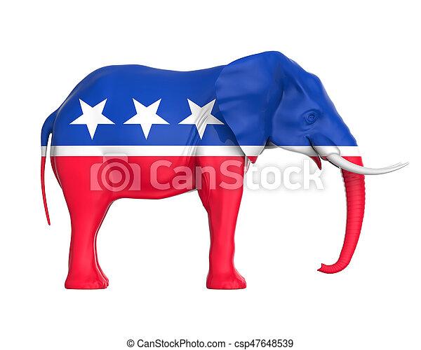républicain, isolé, éléphant - csp47648539