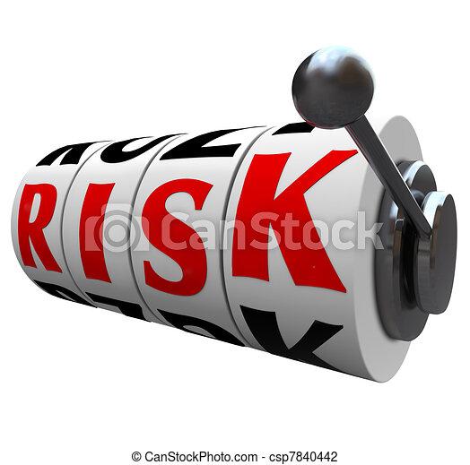 rés, szó, kockáztat, esély, -, gép, lehetőség, hazárdjáték, tol - csp7840442