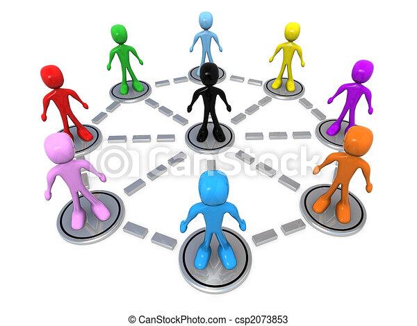 réseau, business - csp2073853