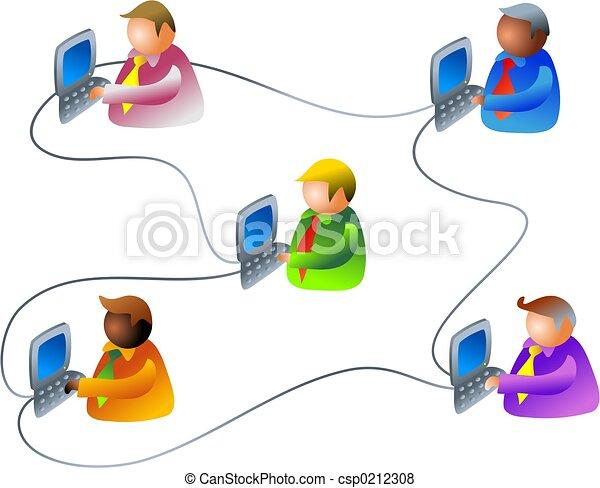 réseau, business - csp0212308