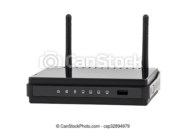 réseau, -, collection, sans fil, noir, internet, routeur, wi-fi, électronique - csp32894979