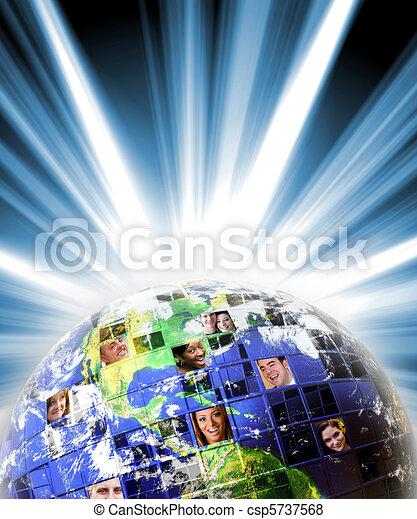 réseau global, gens, mondial - csp5737568