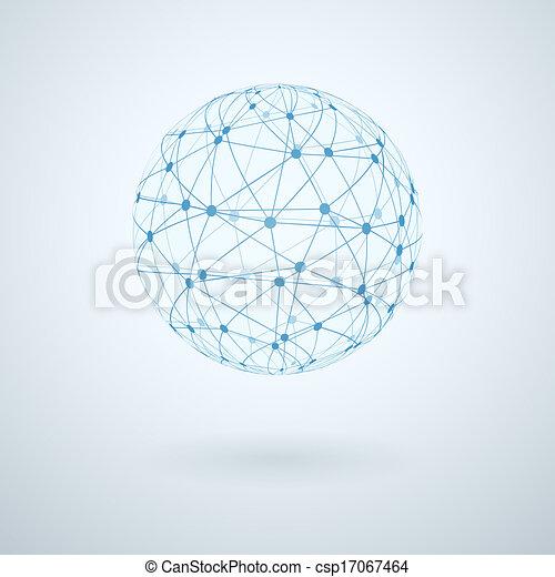 réseau global, icône - csp17067464