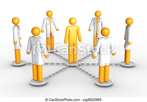 réseau, healthcare - csp8523865