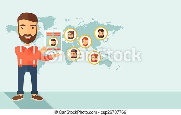 réseau, social - csp26707766