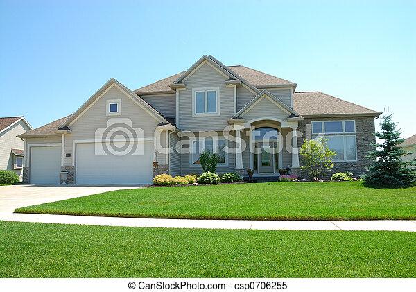 résidentiel, américain, haut gamme, maison - csp0706255