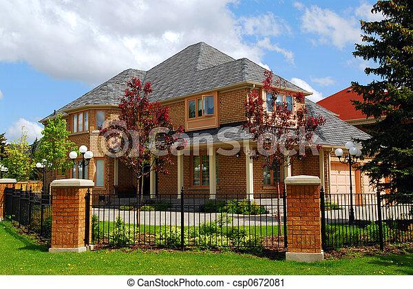 résidentiel, maison - csp0672081
