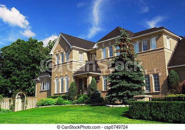 résidentiel, maison - csp0749724
