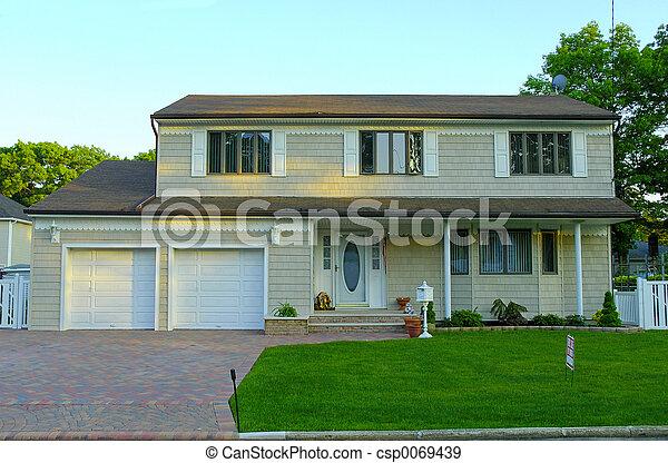 résidentiel, maison - csp0069439