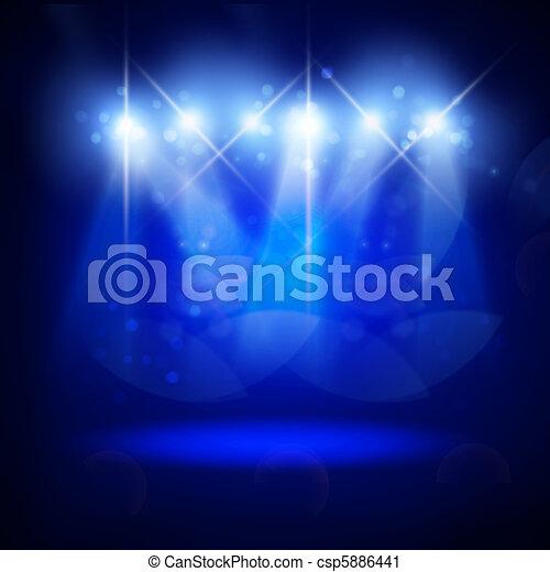 résumé, éclairage, image, concert - csp5886441