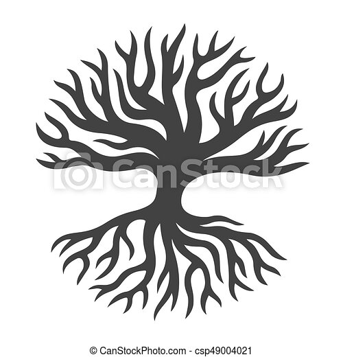 r sum arbre racines silhouette r sum arbre forme illustration vectorielle. Black Bedroom Furniture Sets. Home Design Ideas