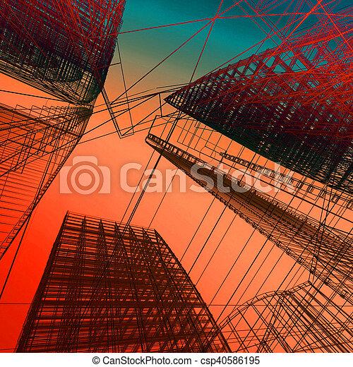 résumé, architecture moderne - csp40586195