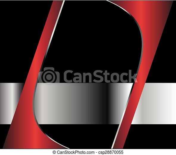 résumé, arrière-plan rouge - csp28870055