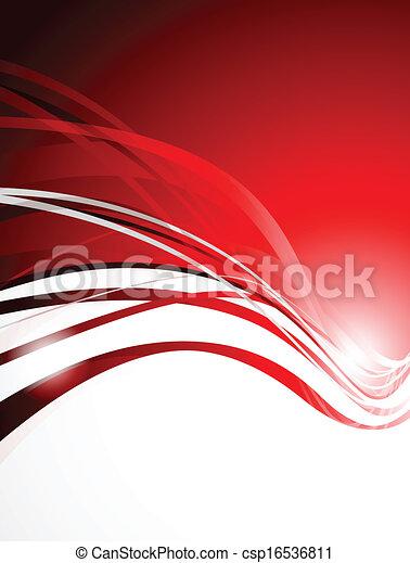 résumé, arrière-plan rouge - csp16536811