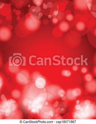 résumé, arrière-plan rouge - csp18071867
