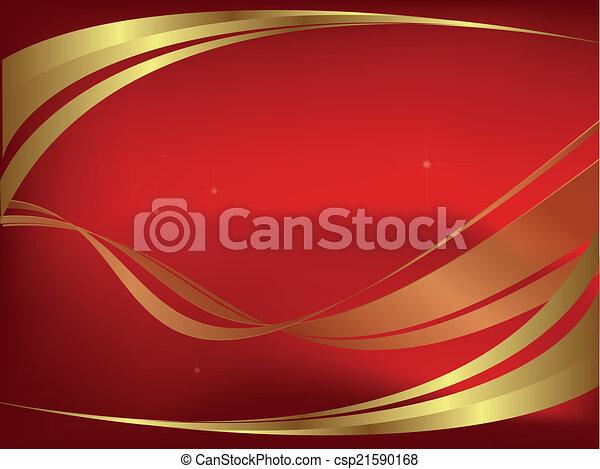 résumé, arrière-plan rouge - csp21590168