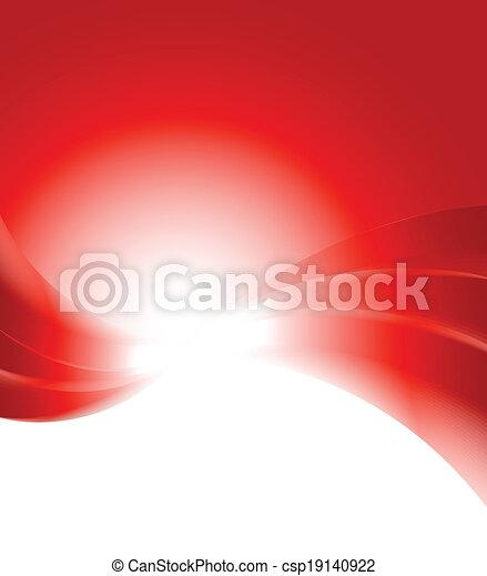 résumé, arrière-plan rouge - csp19140922