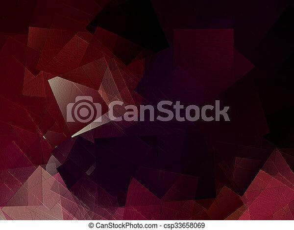 résumé, arrière-plan rouge - csp33658069