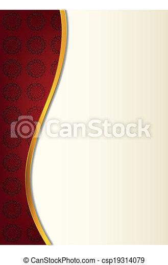 résumé, arrière-plan rouge - csp19314079