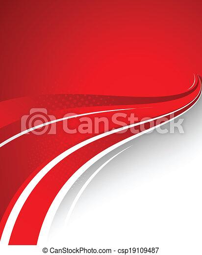 résumé, arrière-plan rouge - csp19109487