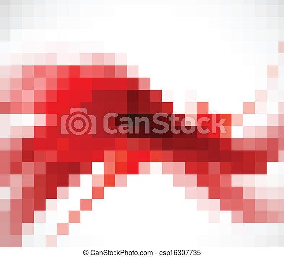 résumé, arrière-plan rouge - csp16307735