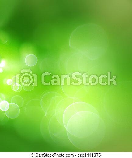 résumé, arrière-plan vert - csp1411375