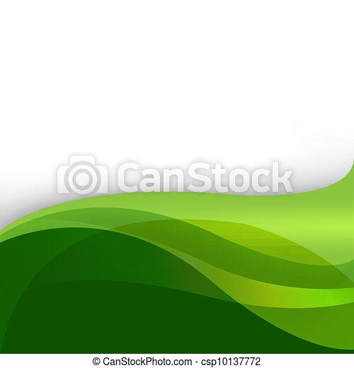 résumé, arrière-plan vert, nature - csp10137772