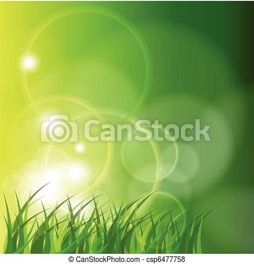 résumé, arrière-plan vert - csp6477758