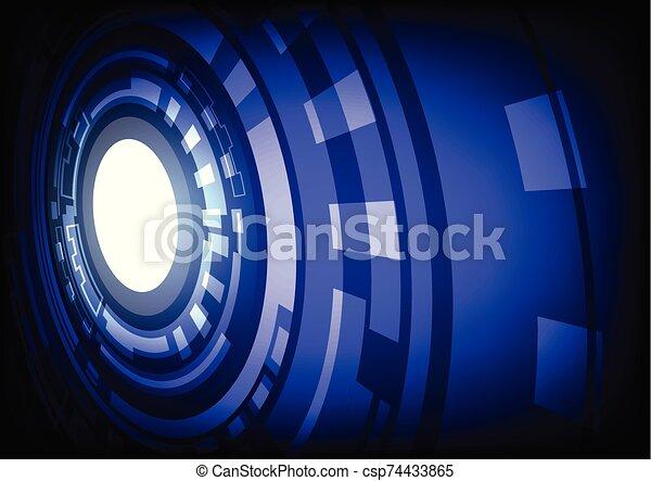 résumé, bleu, technologie, fond, hitech, numérique - csp74433865