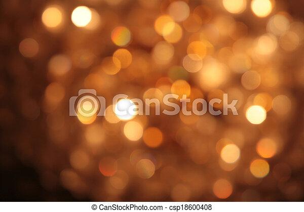 résumé, brouillé, lumières, bokeh, fond, circulaire - csp18600408