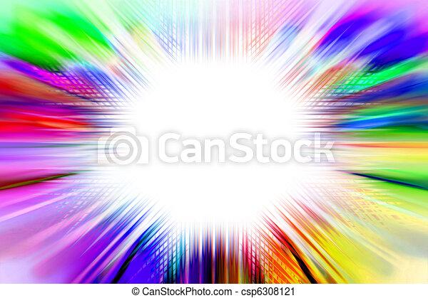 résumé, coloré, radiant, fond - csp6308121