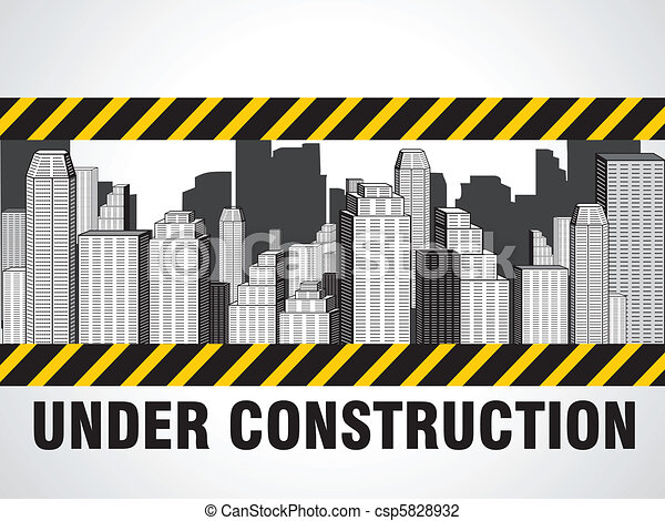 résumé, construction, bâtiments - csp5828932