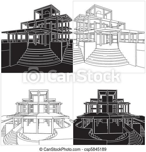 résumé, construction, structure - csp5845189