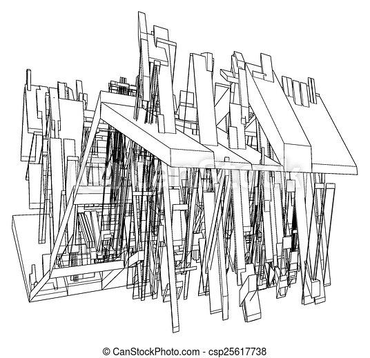 résumé, construction, structure - csp25617738