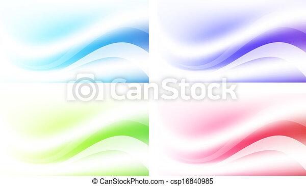 résumé, ensemble, fond, multicolore - csp16840985