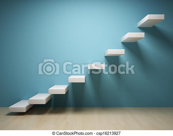 résumé, escalier - csp16213927