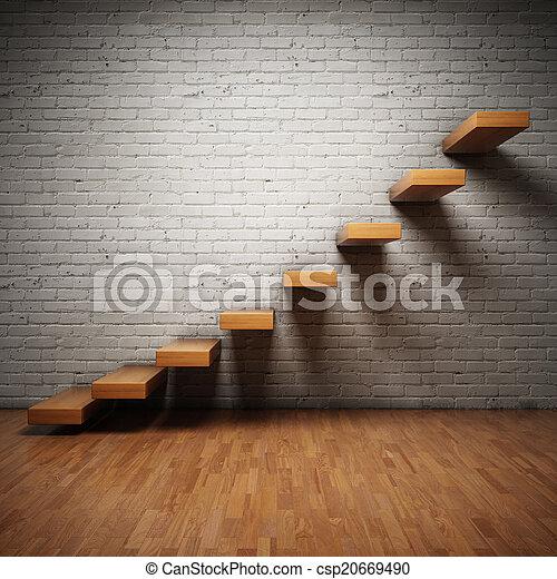 résumé, escalier - csp20669490