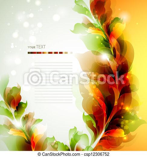 résumé, feuilles - csp12306752
