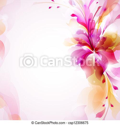 résumé, fleur - csp12306675