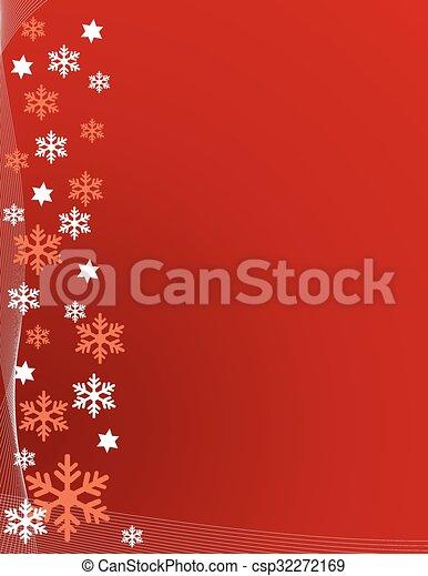 résumé, flocons neige, fond - csp32272169