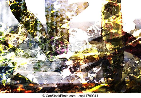 résumé, fond, texture, brouillé - csp11799311